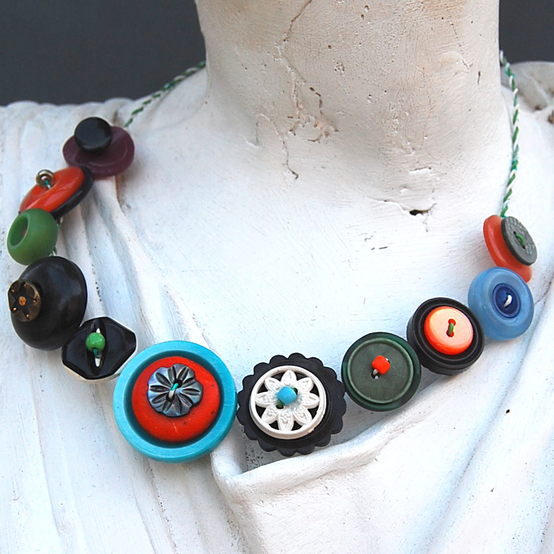 Vintage Button Necklace