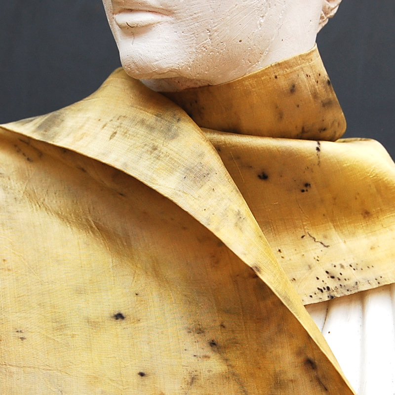 Naturally Dyed Silk Scarf